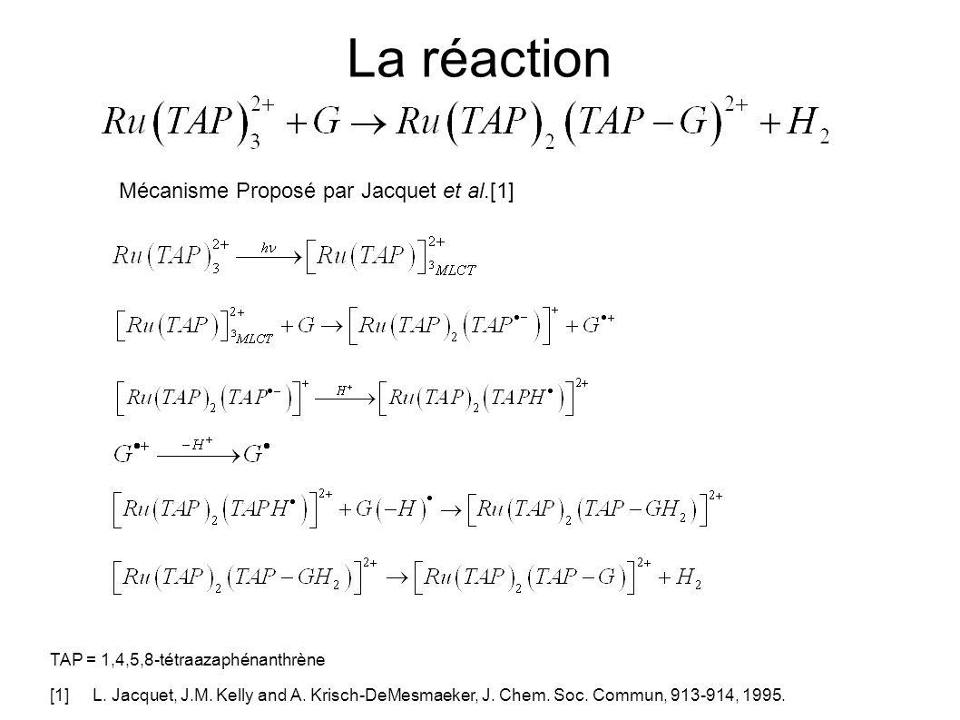La réaction Mécanisme Proposé par Jacquet et al.[1]